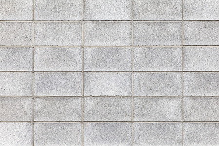 Cement block wall texture and seamless background Stock Photo