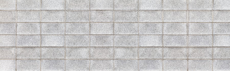 Panorama of Cement block wall texture and seamless background