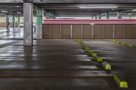 Parking spaces in the parking building