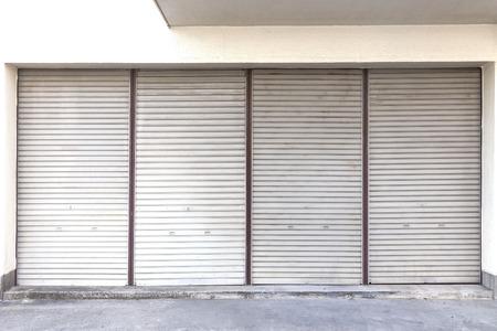 shutter door at the garage closed