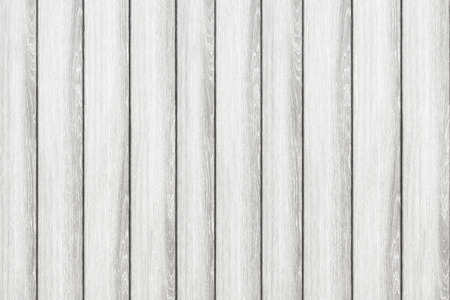 Empty white plank panel wood wall surface texture for background or decoration design