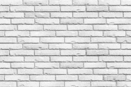White grunge brick wall background seamless and texture