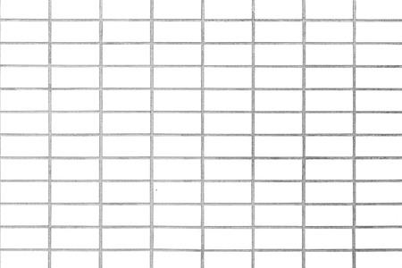 Kitchen wallpaper concept: Close up modern white brick tiles wall texture background