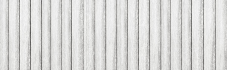 Panorama of Empty white plank panel wood wall surface texture for background or decoration design 스톡 콘텐츠