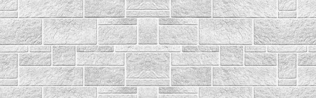 Panorama of The modern white concrete tile wall background and texture