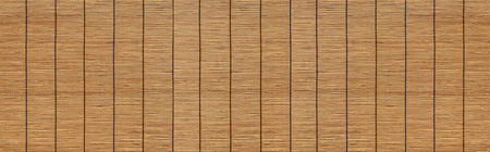 Panorama of Brown bamboo blinds texture and seamless background