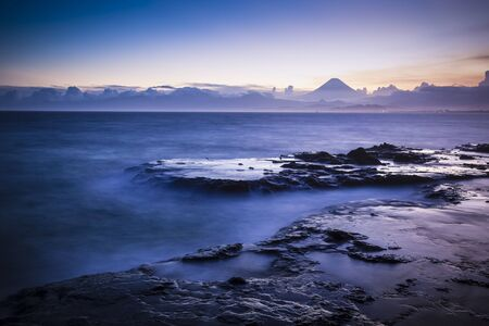 Atmosphere by the sea of Sagami, Kanagawa Prefecture and Mt.Fuji during the sunset