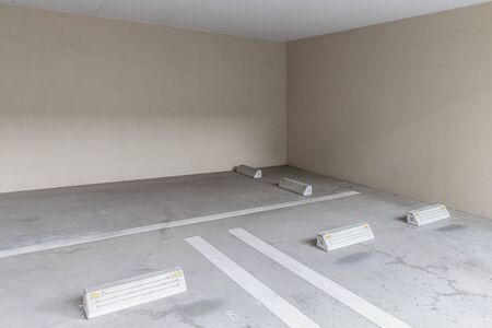 Parking in the basement is empty. 写真素材