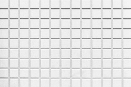 white mosaic pattern and seamless background 写真素材