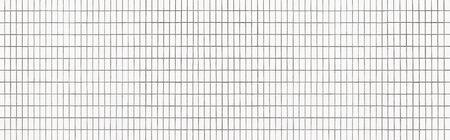 Panorama of white mosaic pattern and seamless background 写真素材