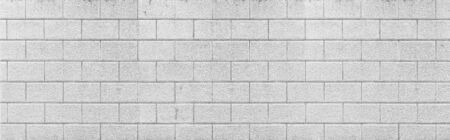 Panorama of Concrete block wall seamless background and texture