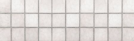 Panorama of White stone floor texture and seamless background