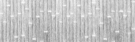 Panorama of White bamboo fence texture and seamless background 写真素材
