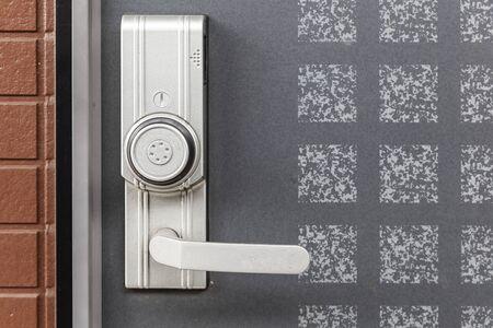 Close-up Door opener with code