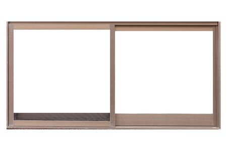 Metal window frame isolated on white background 写真素材