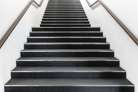 Long stair concrete in office building