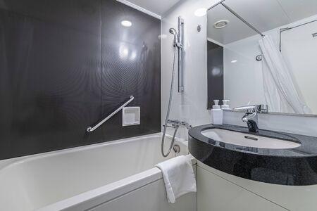 Bath tub in modern shower room