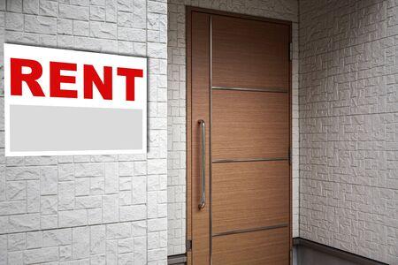 Rental Real Estate Sign in Front of house Reklamní fotografie