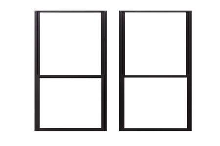 Aluminium window frame isolated on white background Stock fotó