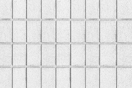 White concrete block wall seamless background and texture