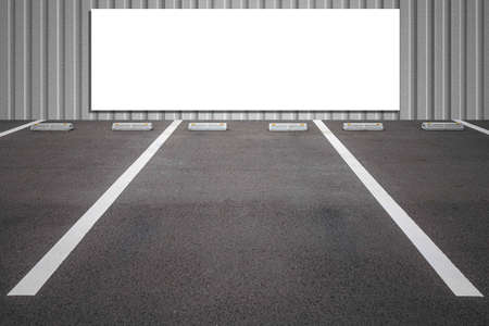 Blank billboard Attached to the public parking outside of the building