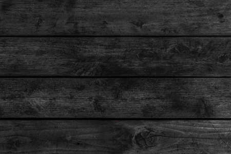 High resolution black wood plank texture and seamless background
