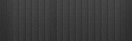 Panorama of Black Corrugated metal background and texture surface or galvanize steel