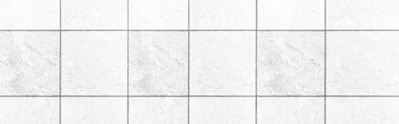 Panorama of White marble stone tile floor texture and seamless background Stock Photo