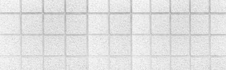 Panorama of White rubber tile for flooring texture and seamless background , Rubber tile floor pattern and background