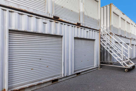Outside atmosphere of a small rental storage room