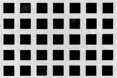 White steel grating isolated on back background Imagens