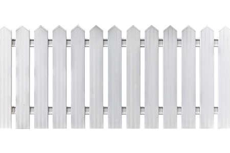 White wood fence isolated on a white background Imagens