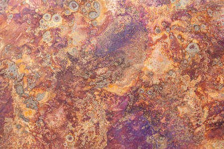 The pattern on the rusty iron plate texture and background seamless