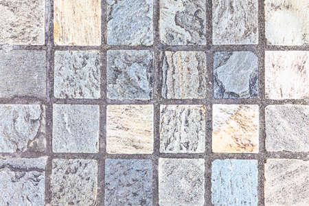 Outdoor granite terrazzo floor tile texture and seamless background Foto de archivo