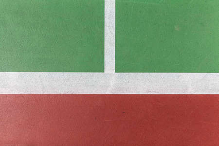 A close up of white lines on the tennis court floor Banque d'images