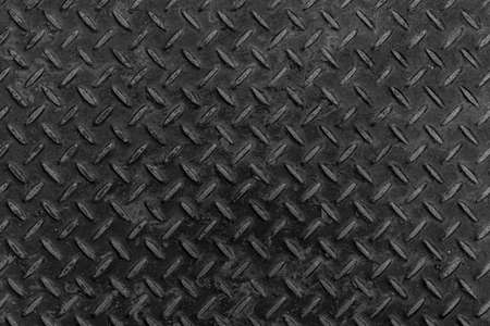Diamond patterned steel sheet pattern and background seamless or Black Steel plate floor background