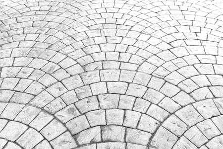 Vintage white cobblestone pavement pattern and background
