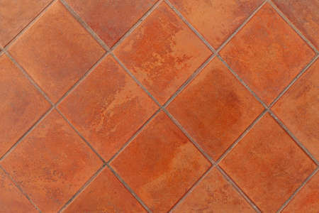 Brown porcelain floor tiles pattern and background seamless