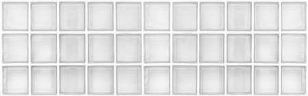 Panorama of White translucent glass block wall pattern and background seamless Stock Photo