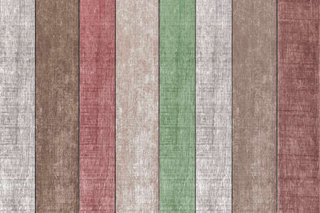 Old wooden house wall with many colors in vintage style texture and background seamless