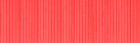 Panorama of Red cement building wall with stripes texture and background seamless