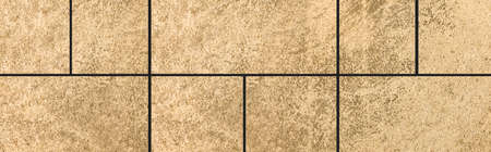 Panorama of Polished Granite Floor Tiles brown texture and background seamless