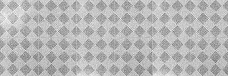 Panorama of Vintage white and grey Granite Floor Tiles pattern and background seamless