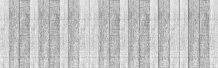 Panorama of Old white vintage wooden wall pattern and seamless background Standard-Bild