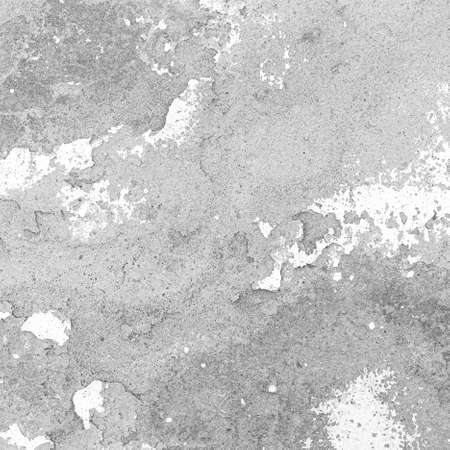 Old cement wall painted white, peeling paint texture and background Standard-Bild