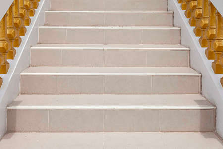 Brown marble staircase and outdoor Granite floor