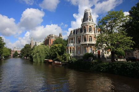 photograph of a canal in amsterdam Stock Photo - 4338651