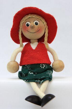 fotografía de muñecos de madera Foto de archivo