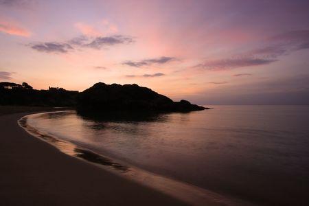 photograph of sunrise over the bay fosca, Palamos, Girona Stock Photo - 4509202