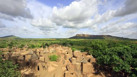 Pueblo Dogon, Malí, Foto de archivo